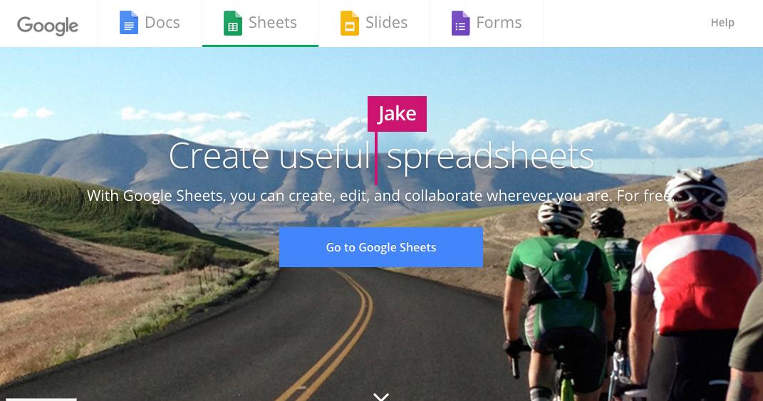 Spreadsheets: Google Sheets