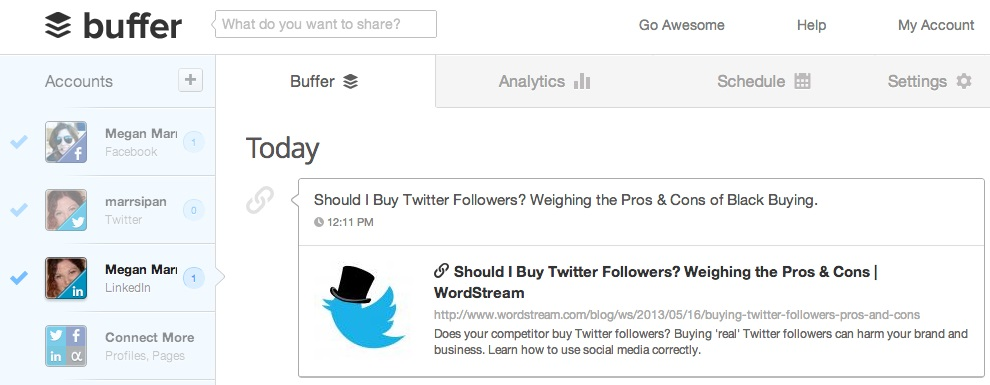 Buffer: Social Media Management Software