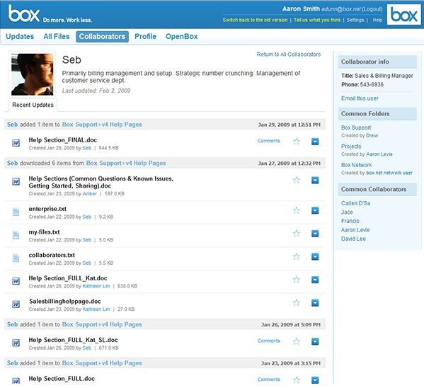 Box: Web Content Management Services