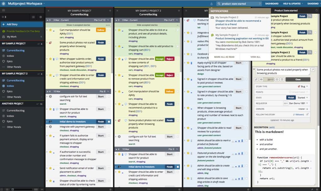 Pivotal Tracker: Agile Project Management Software