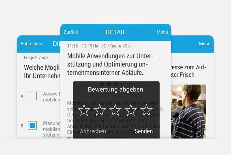 Mobile Event App - für Konferenzen, Events, Messen und Geschäfts-Meetings