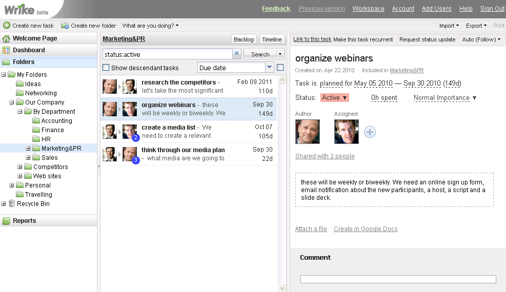 Wrike: Online Project Manager