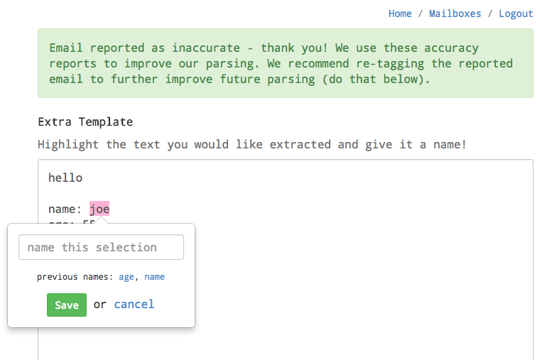 Email Parser by Zapier: Data Extraction from Emails