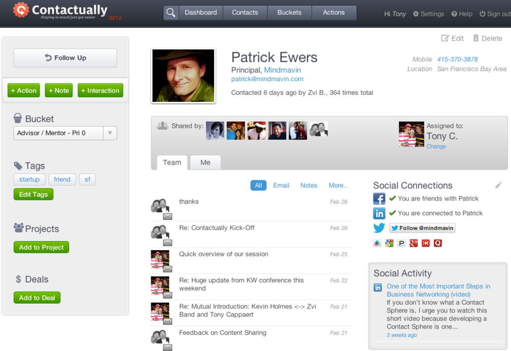 Contactually: Web Based Contact Management System