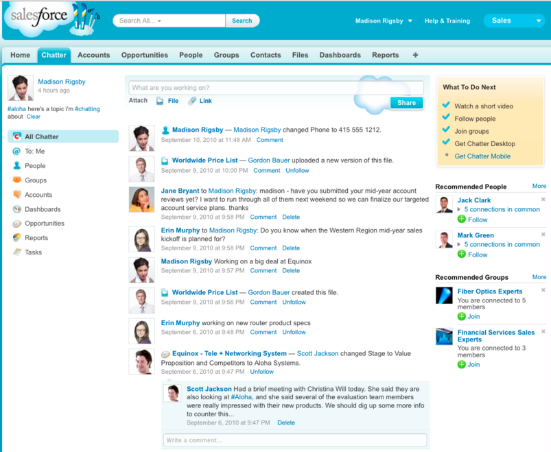 Chatter: Collaboration Software Solution
