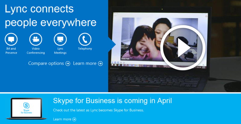 Lync: web conferencing and webinar software from Microsoft