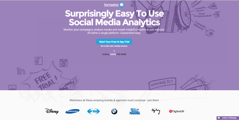 Social Media Marketing Analytics mit Locowise