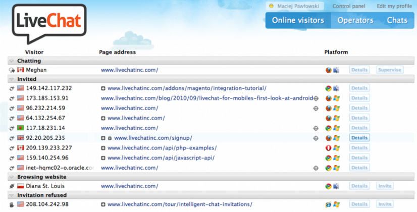 LiveChat: Live Support & Help Desk Software