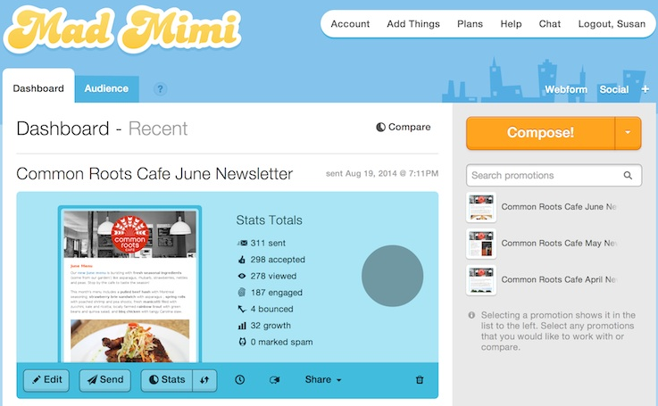 Mad Mimi: Create, Send, And Track Email Newsletters