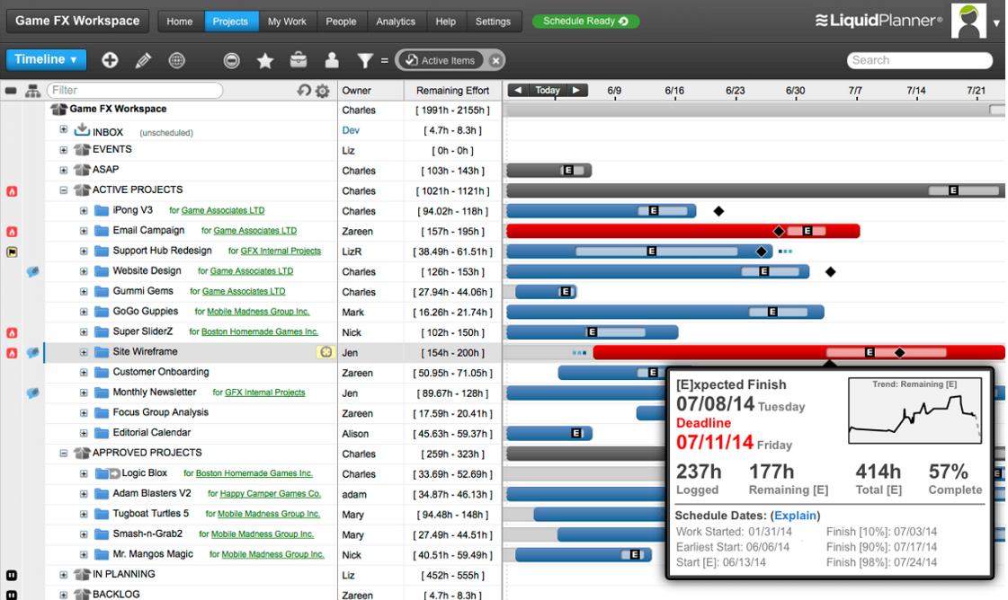Liquid Planner: Online Management Software