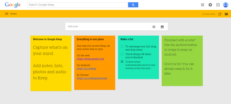 Google Keep - kostenlose Evernote-Alternative