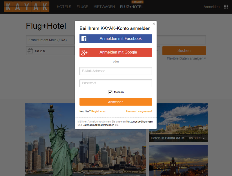 Kayak - Travel, Hotel, Flights, and Rental Cars