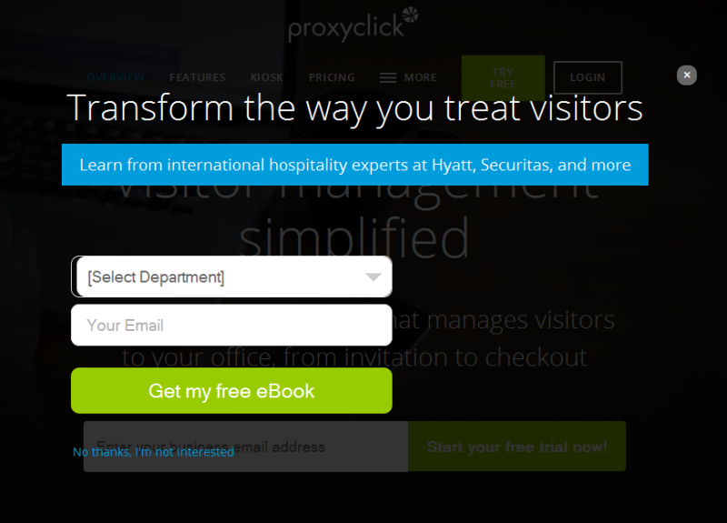 Effiziente Visitor Management Software von proxyclick