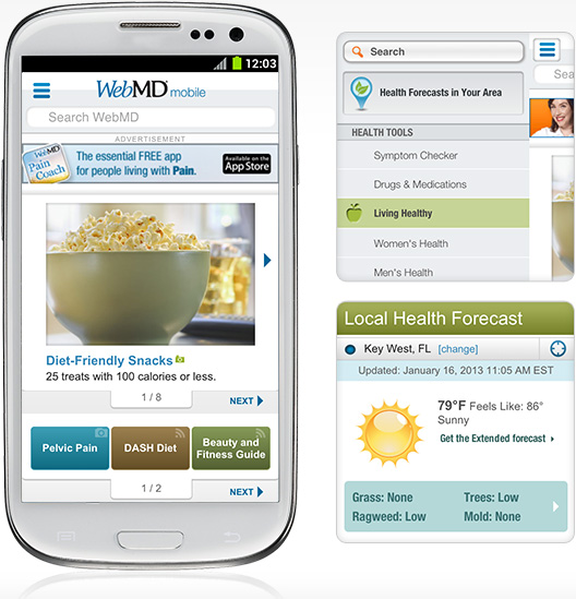 WebMD - a versatile app for health information and decision making