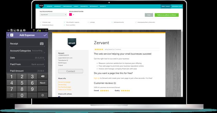 Zervant - effiziente Zeiterfassung, Abrechnung und Buchhaltung