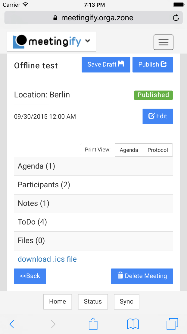 The Meeting Agenda Organizer: Meetingify